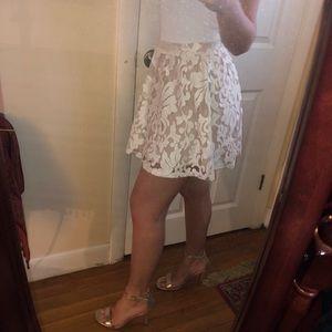 Revolve Clothing Off White Lace Skirt